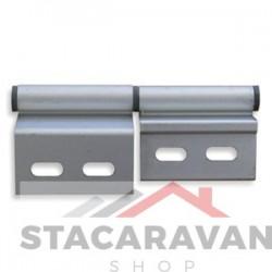 Aluminium deurscharnier, rechtsdraaiend.