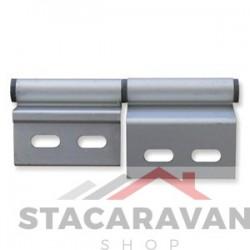 Aluminium deur scharnier, linkerhand.