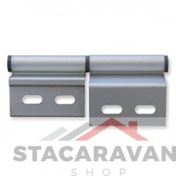Aluminium deurscharnier, linksdraaiend.