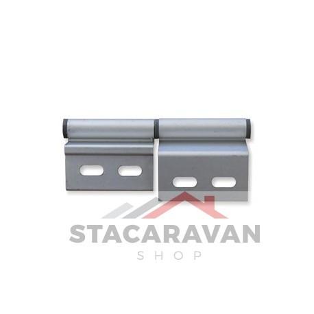 Populair Aluminium deurscharnier, linksdraaiend. - Stacaravan Shop WZ46