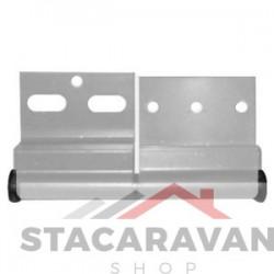 Ellbee aluminium deurscharnier, rechtsdraaiend kleur: alu.