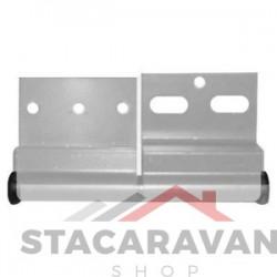 Ellbee aluminium deurscharnier, linksdraaiend kleur:  alu.