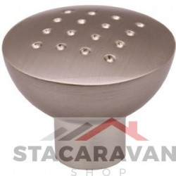Dimpled Knob 33mm Brushed Nickel
