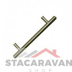 T Bar handvat 128mm geborsteld nikkel