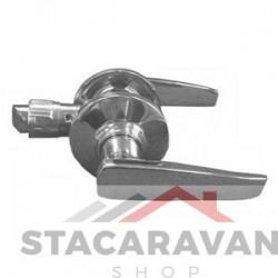 Handvat hendel set met niet vergrendeling Satin staal