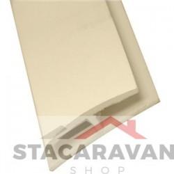H-vormige strip voor plafondplaten en wandplaten kleur: creme