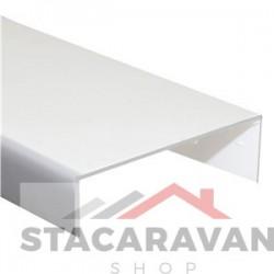 Deur aftopping formaat 22mm x 2,5 meter wit