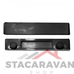 Ellbee crystal raamwig 8 mm, zwart