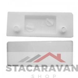 Ellbee kristal venster wig 47mm (L) x 17mm (W) x 5 mm (H) wit
