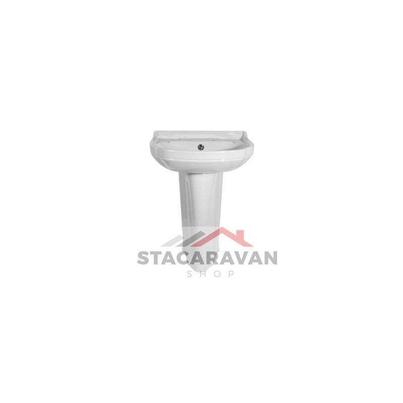 Nimbus wasbak kleur wit 530mm (W) x 390 mm (D) ex zuil  Stacaravan Shop S # Wasbak Zuil_225111