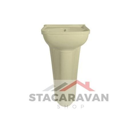 Klein bassin compleet met standaard afval 365mm Ivory