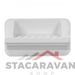 Badkamer zeepbakje 185mm kleur: wit