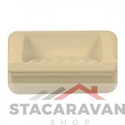 Badkamer zeepbakje 185mm kleur: Cremé