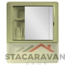Badkamerkastje - spiegels - 540mmx644mmx115mm ivoor
