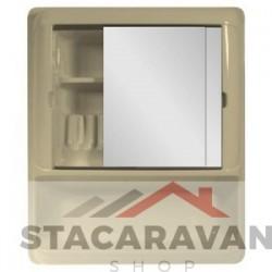 Badkamer set 2 spiegels 644mm soft cremé