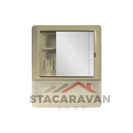 Badkamerkastje - spiegels - 540x644x115mm Soft cremé - Stacaravan ...