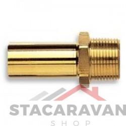 Speedfit adapter - geelkoperen vaareinde 15 mm x 12,7mm BSP