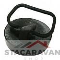 Gootsteendop met trekring 44mm zwart