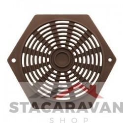 Plastic zeshoek ventilator bruin