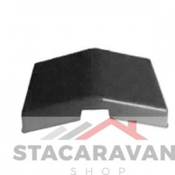 Dakluik met dakpaneffect zwart/ grijs