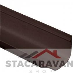 Ogee dakgoten, 115mm, 2 Meter lengte, bruin