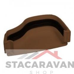 Ogee dakgoot eindkap 115mm voor gut100 kleur: bruin
