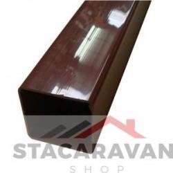Square Line regenpijp voor gut80 65mmx2.5M kleur: bruin