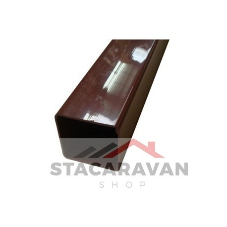 Square Line regenpijp, 65mm, 2.5M, bruin