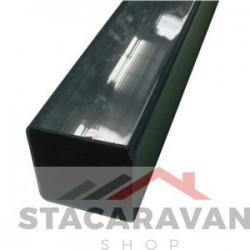 Square Line regenpijp voor gut80 65mmx2.5M kleur: groen