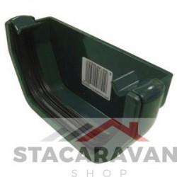 Square Line dakgoot eindkap 112mm voor gut80 kleur: groen