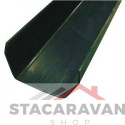Square Line dakgoot 112mm x 2meter kleur: groen