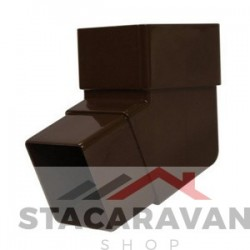 Square Line bocht voor gut90 kleur: bruin