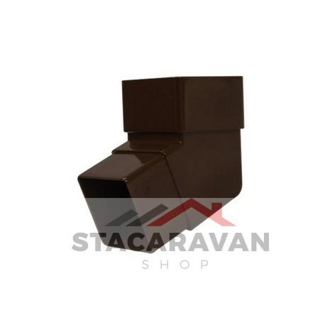 Square Line offset bocht, 112 DEG, bruin