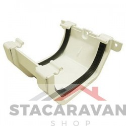 Square line koppelstuk 112mm voor gut80 kleur: wit