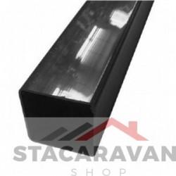Square line regenpijp voor gut80 65mmx2.5m kleur: zwart