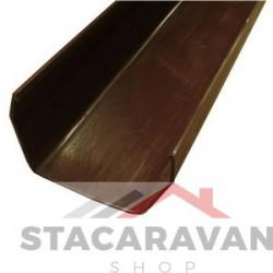 Square Line dakgoot 112mm x 2 Meter kleur: bruin