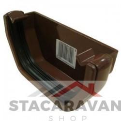 Square Line dakgoot eindkap 112mm voor gut80 kleur: bruin