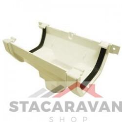 Square Line dakgoot/regenpijp koppeling voor gut80 112mm kleur: wit