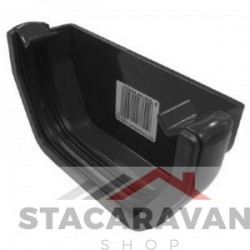 Square line dakgoot eindkap 112mm voor gut80 kleur: zwart