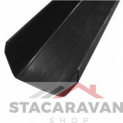 Square Line dakgoten, 112mm, 2 Meter lang zwart