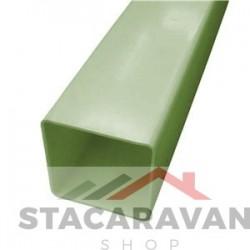Square Line regenpijp voor gut80 65mmx2.5M kleur: lichtgroen
