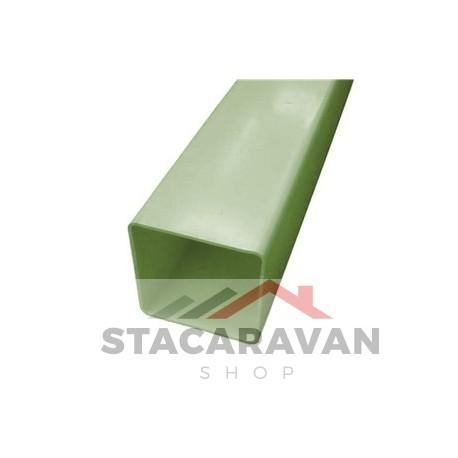 Square Line regenpijp, 65mm, 2.5M, Quarry Grey (lichtgroen)
