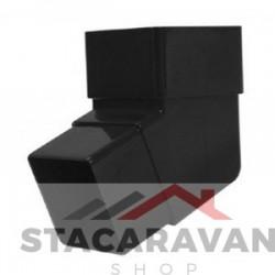 Square Line bocht voor gut90 kleur: zwart