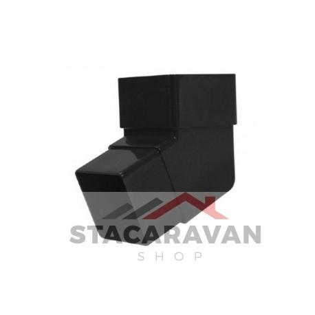 Square  Line offset bocht, 112 DEG, zwart