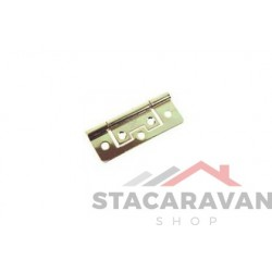 Stalen scharnier model 266 vlak 63 x 25mm