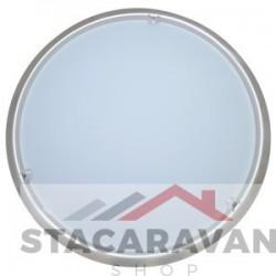 Plafondlamp  mat chroom glazen diffuserer 265mm