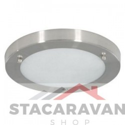 Plafondlamp geborsteld chrome effect 310mm