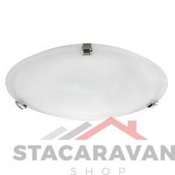 Plafondverlichting met chroomeffect en glazen kap 300mm