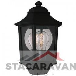 Buitenlamp lataarn zwart  aluminium