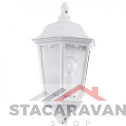 Buitenmuurverlichting halve lantaarn, aluminium en glas IP44